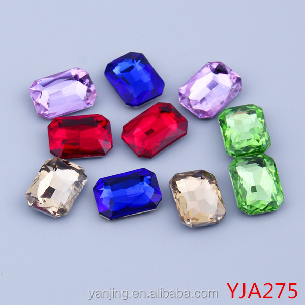 Wholesale Chaton Stones Jewelry Beads Crystal Material 18*25mm Rectangle Shape Rhinestones