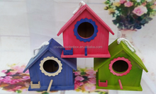 Colorful painting paulownia wooden bird cage