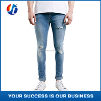 2015 fashionable blue men top jeans brands designer ripped jeans wholesale authentic washed cotton denim jeans