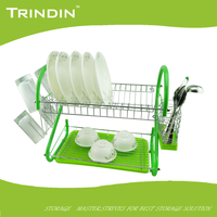 TD208G stainless steel chrome Iron kitchen dish rack chromed wire dish racks