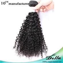 5A Coarse Yaki hair extension 3pcs/lot Mix length Unprocessed Virgin Human Hair weft kinky curly new arrival