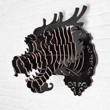 Wall animal head hanging sculpture, Chinese dragon head hanging