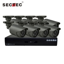 SECTEC wifi security surveillance systems kit nvr poe cctv 4ch 4 ip camera with hd 1tb wireless camera detector