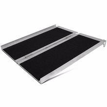 Aluminum Briefcase Traction Ramp Folding Portable Wide enough for most wheelchairs, scooters, walkers and bikes