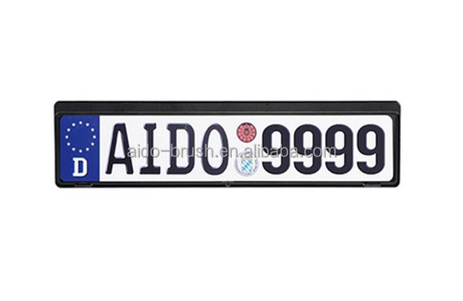 Black printed Germany customized cars licences plate frame
