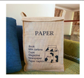 With cover Interesting High-capacity Convenient for Storage Jute Basket
