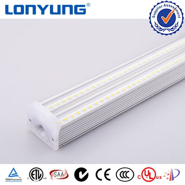 Best sell Egypt Dual Integrated T5 LED Batten light 12v 8w Double Tube5 Fluorescent Lamp Fixture