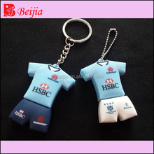Custom make soft pvc cheap USB key cover-custom keychain USB Flash Drives
