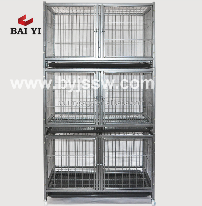 Two Tiers Metal Dog Kennel And Luxury Dog Kennel For America (Wholesale, Good Quality)