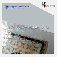 Hologram double side cold lamination film
