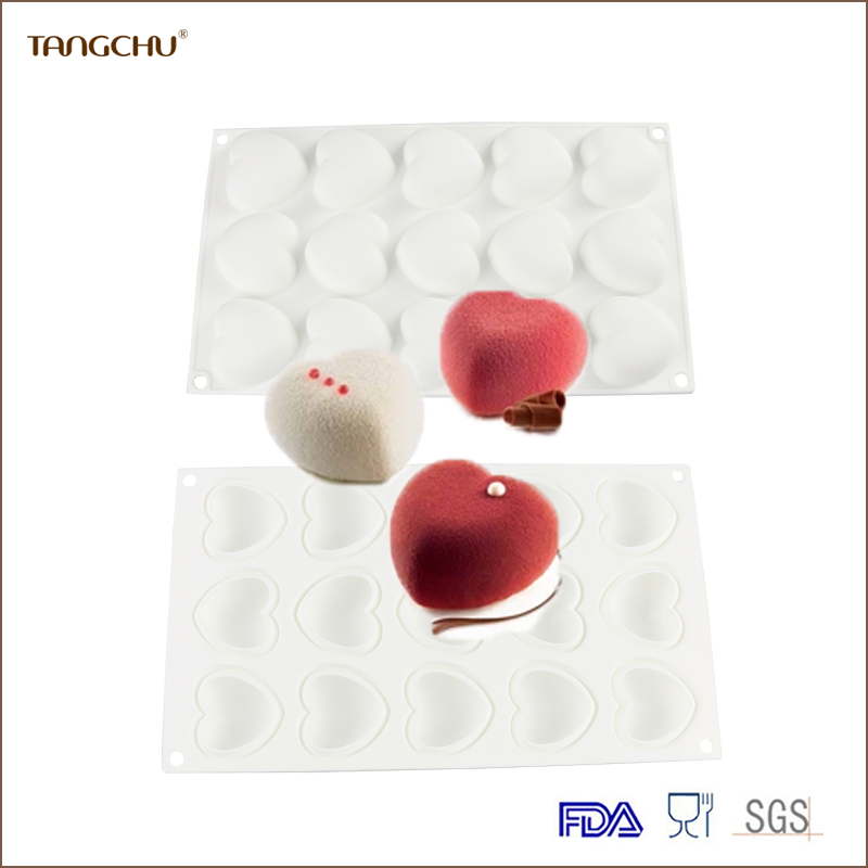 Loving Heart Shape Food-grade Silicone Mousse Mould Cake Decoration Tools Fondant Moulds High Capacity