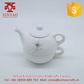 Eco-friendly white porcelain ceramic tea pot milk coffee pot
