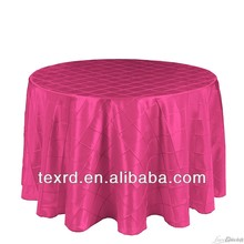 Polyester Taffeta Pintuck Embroidered Table Cloth