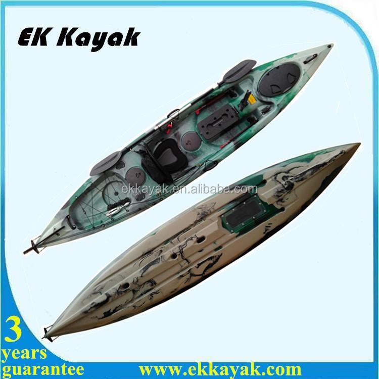 Rotomolded foot pedal sea fishing kayak with uv inhibitors for Fishing kayak with foot pedals