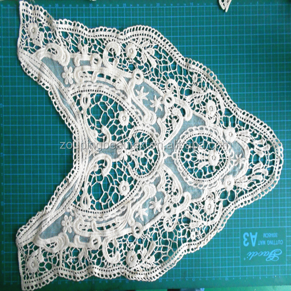 100%cotton water soluble embroidered neckties crochet lace collar pattern