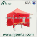 wood table event tent