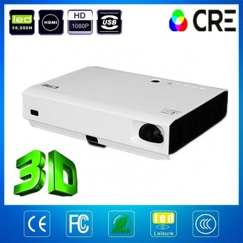 HD USB HDMI Interface 720P 1080P Multimedia LED Data Show Projector 3D Projector For Home Use Home Theater Shool Meeting