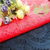 Spanish aliexpress big circle red and black polyester fabric lace