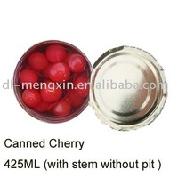 Canned red sour Cherry pitted in syrup (Canned food )
