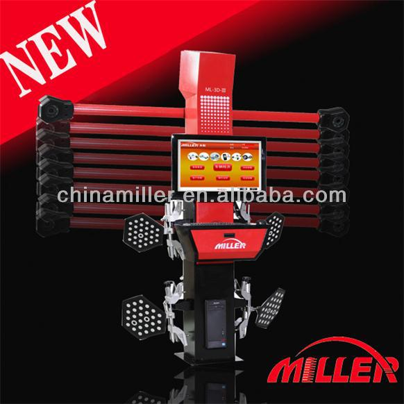 MILLER best selling intelligent four cameras 3d wheel alingment equipment in motorcycles for sale,movable beam(ce certificate)