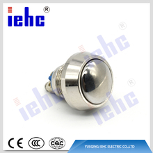 YHJ series 12mm waterproof Momentary anti-vandal push button water valve