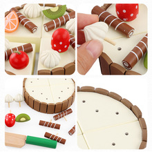 Eco-Friendly Baby DIY Pretend Role Playing Games Wooden Educational Toy Birthday Gif High Quality Magnetic Mini Cake Toys