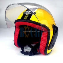 yellow ABS and red fabric motorcycle full helmet