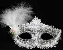 F6294 carnival venice beautiful design feather mask,feather mask