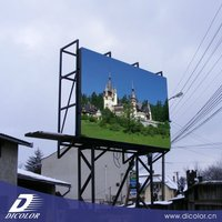 Dicolor P16 outdoor High brightness full color fixed installation 1024*1024 advertising LED display