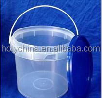 hot sale clear plastic buckets with lids
