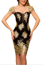B32405A Clubwear Party Evening Sexy Gold Sequin Dress For Women