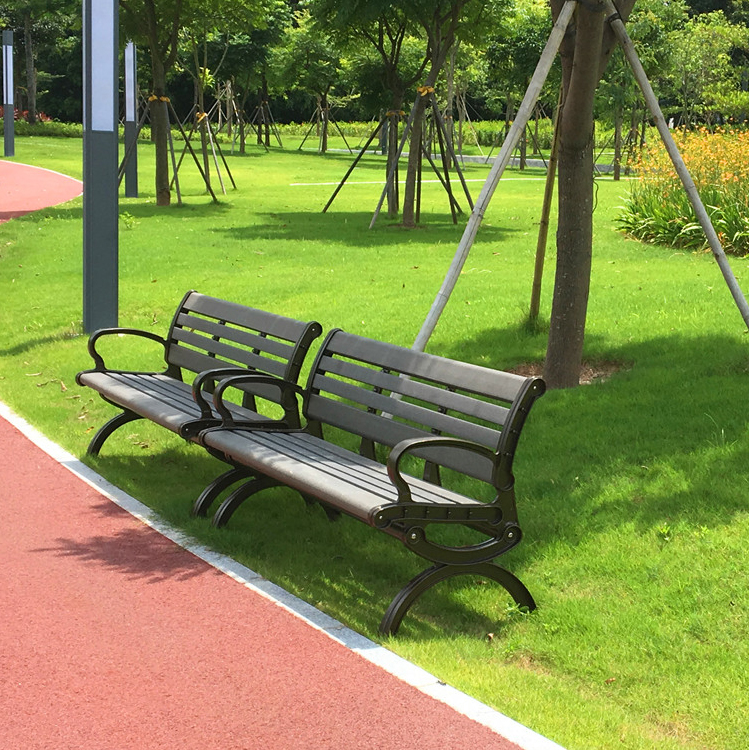 Unique Outdoor Furniture Recycled plastic wood PE Park Benches for Garden Sets