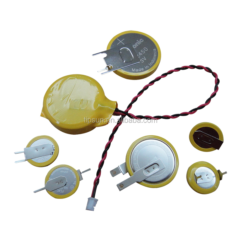3V Lithium Coin Cell CR2025 CR2032 battery with Solder Tabs Pins / Wires