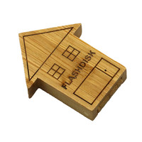 Bulk cheap wholesale wood house PEN DRIVE 64GB usb flash memory made in China