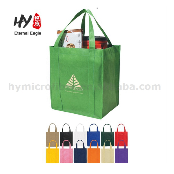 Reusable <strong>Eco</strong> Carrying Cheap Non Woven Promotional Grocery Tote Bags