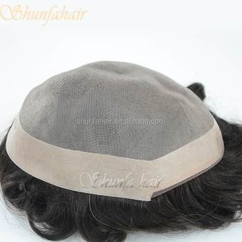 nice knotting natural looking mike and mary toupee,black mens toupee
