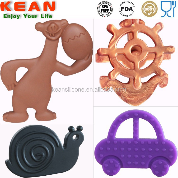 Latest design soft silicone toys for infant baby gel for teething