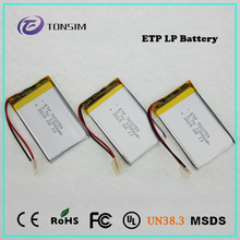 Slim li-ion battery 1200mah 3.7v rechargeable lithium ion battery li polymer battery