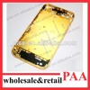 Gold Plated Bezel Middle Chassis Frame Housing with Side Button and Sim Tray For iPhone 4S 4GS