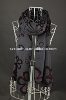 XH-1308 2014 New Fashion printed 100% Viscose graphic scarf