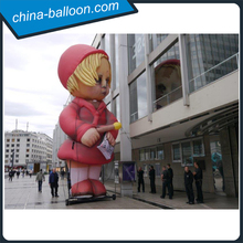 inflatable art / giant inflatable girl with red dress