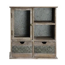 vintage wrought iron solid wood living room wall decor antique custom storage cabinet with two drawers <strong>furniture</strong> 02018