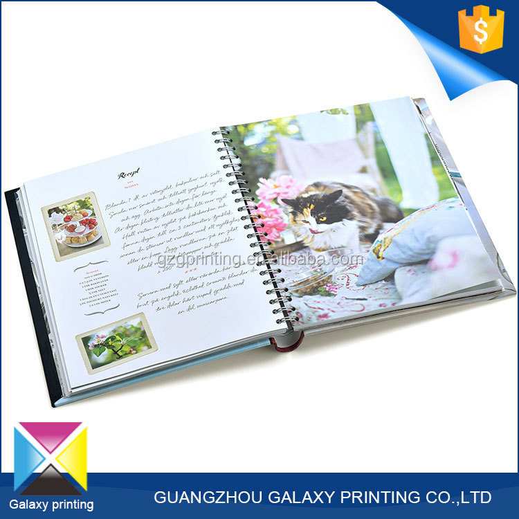 Factory supply cheap custom composition bulk spiral bound custom book printing notebook with colored gloss art paper