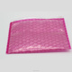 high quality Plastic material reusable ziplock PE pink bubble zipper packing bag for protective packing