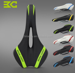 Trade assurance supplier comfortable bicycle saddle mountain bike leather bike saddle