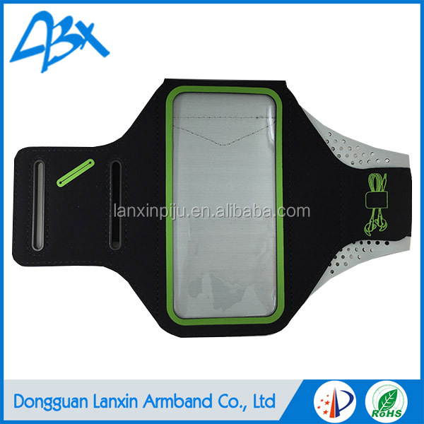 Lycra soft lightweight high quality sports armband,for samsung galaxy s3 case green color