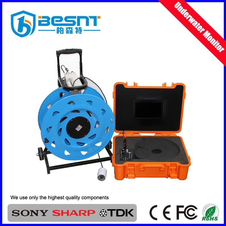 Night vision deep water monitoring system 100m underwater deep water well inspection camera BS-ST32K