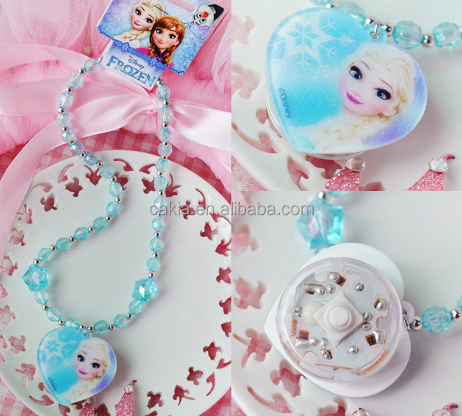 Fashion Frozen beads necklace with LED light