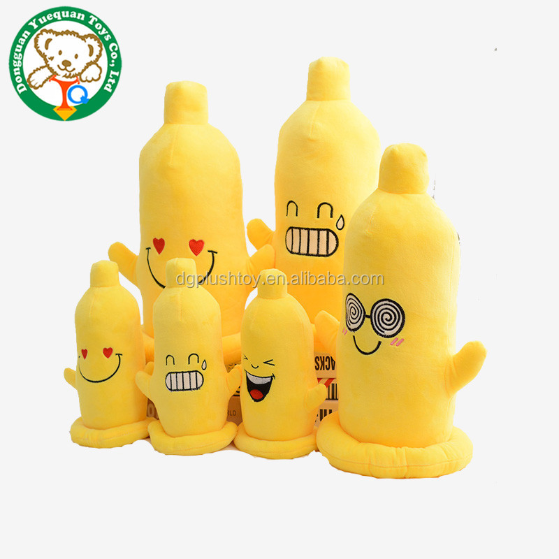 OEM factory cute barious emoji soft plush sex toy. stuffed plush sex condom