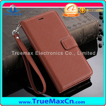 2015 New Arrival Lichi Type Wallet Flip Leather Cover Case For iPhone 6 Plus Leather Case
